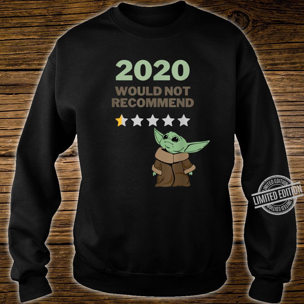 2020 Would Not Recommend 12 Star Shirt for Space Alien Fans Shirt sweater