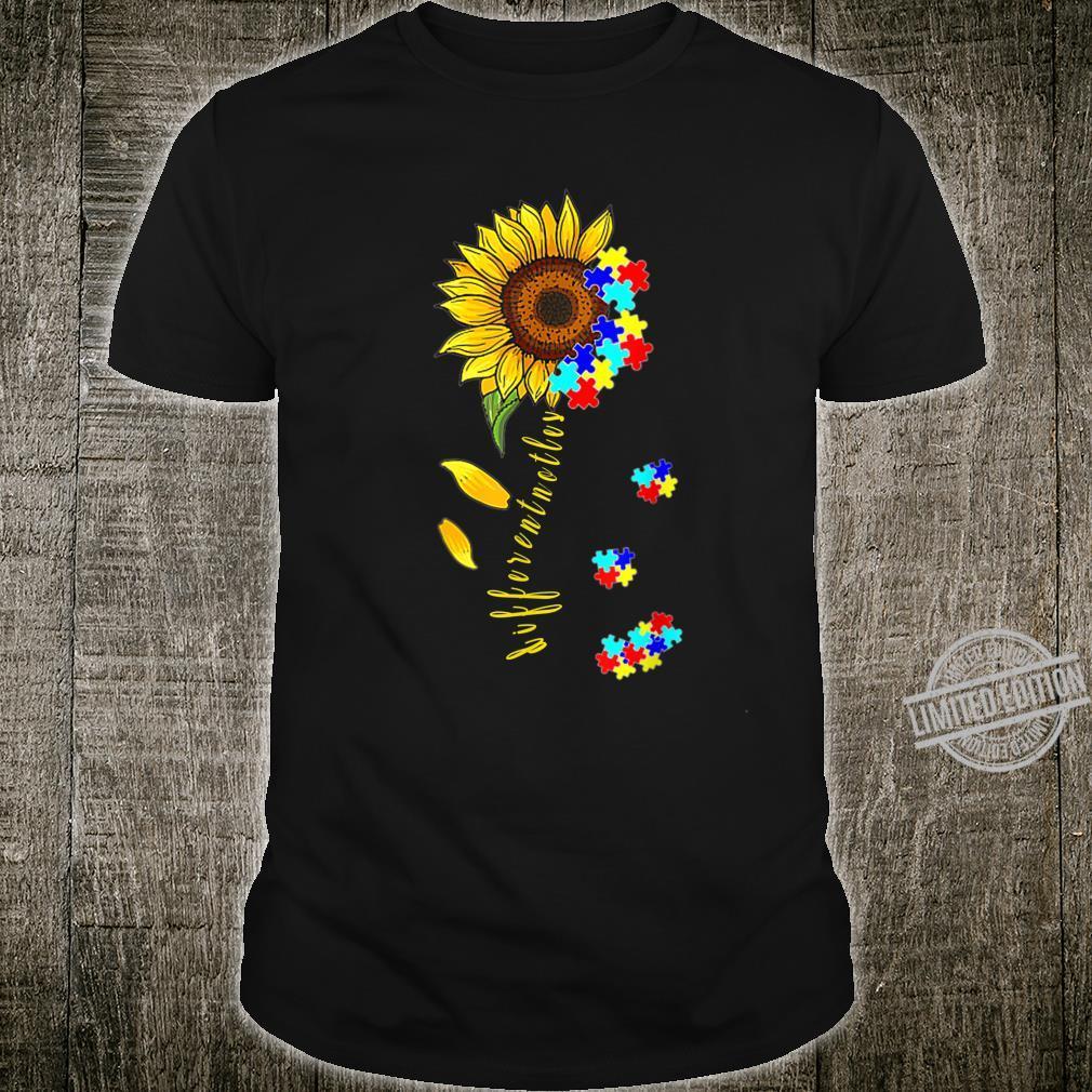 Autism Awareness Differences Sunflower Shirt, warrior Shirt