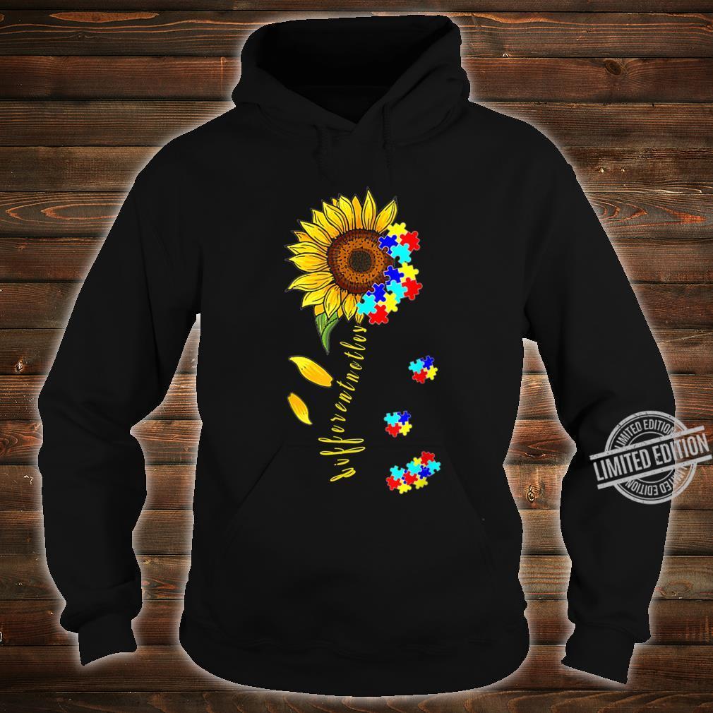 Autism Awareness Differences Sunflower Shirt, warrior Shirt hoodie