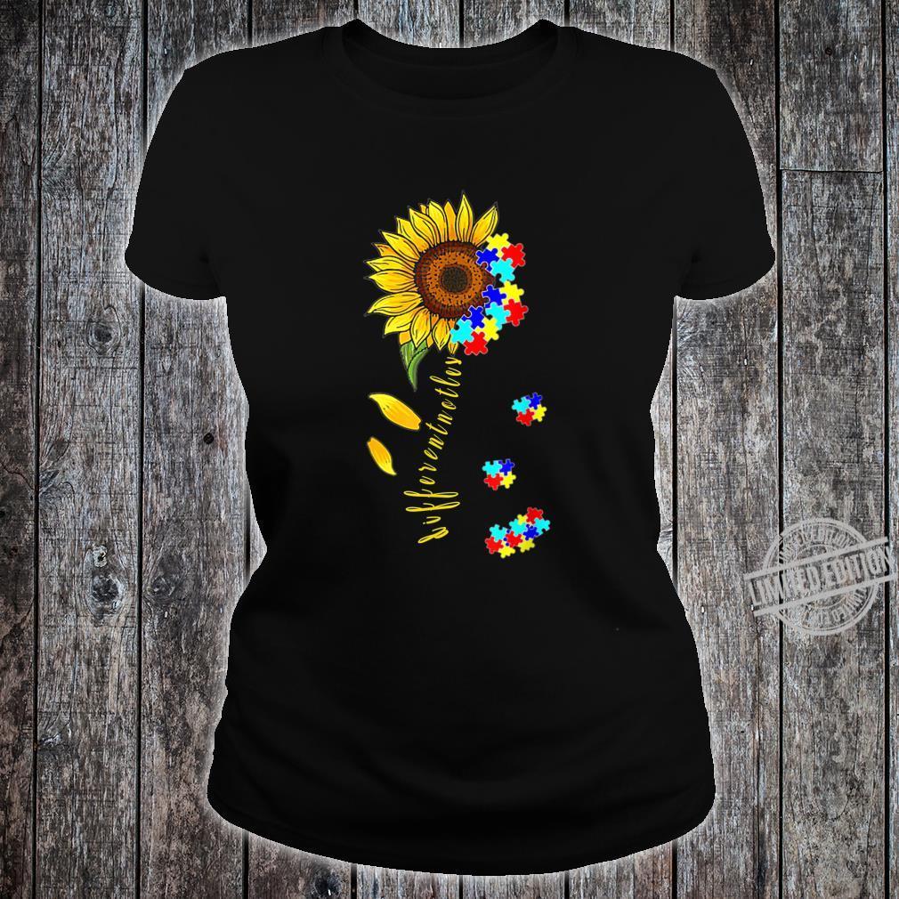 Autism Awareness Differences Sunflower Shirt, warrior Shirt ladies tee