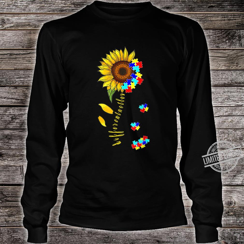 Autism Awareness Differences Sunflower Shirt, warrior Shirt long sleeved