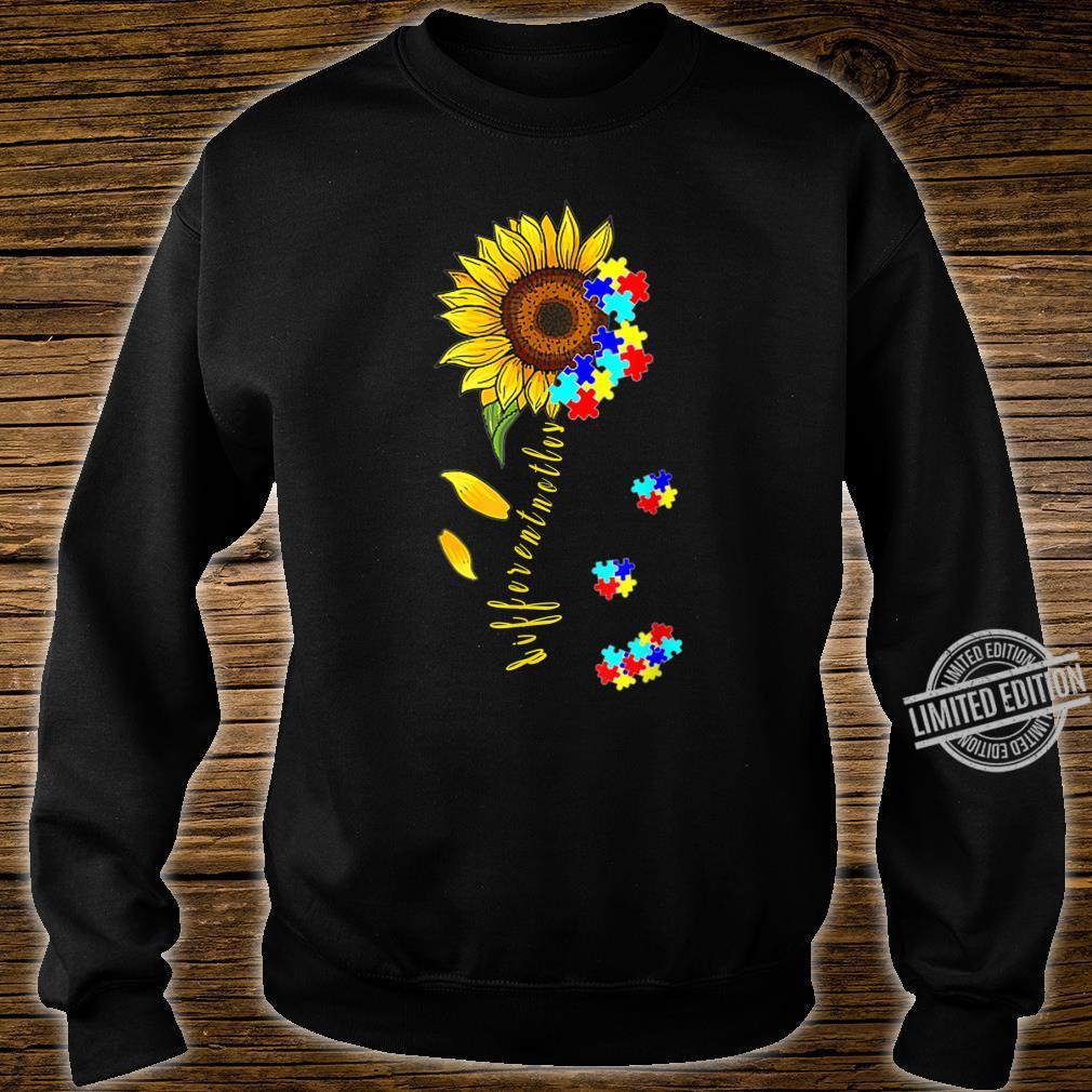 Autism Awareness Differences Sunflower Shirt, warrior Shirt sweater