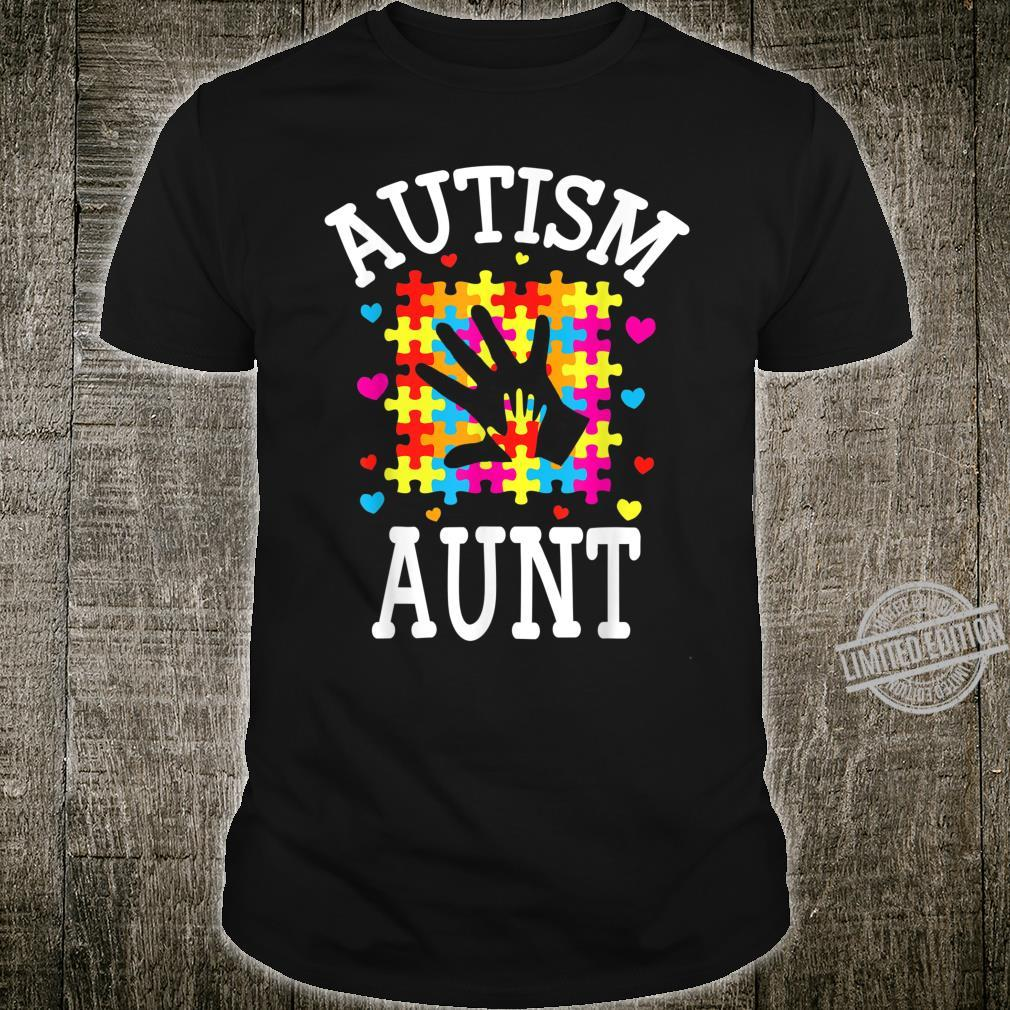 Autism Awareness Mothers day Matching For Aunt Shirt