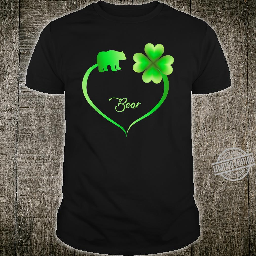Bear Shamrocks Heart Patrick's Day Pet Shirt Shirt