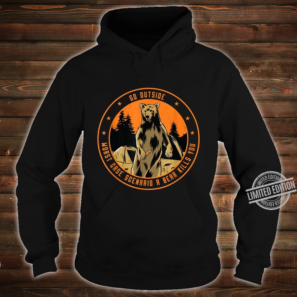 Bear beer outside nature saying Shirt hoodie