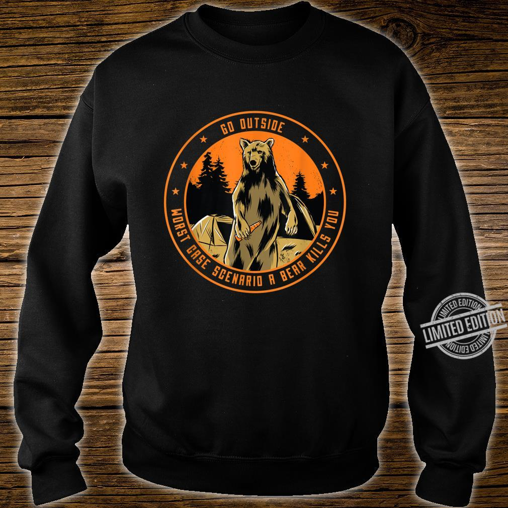 Bear beer outside nature saying Shirt sweater