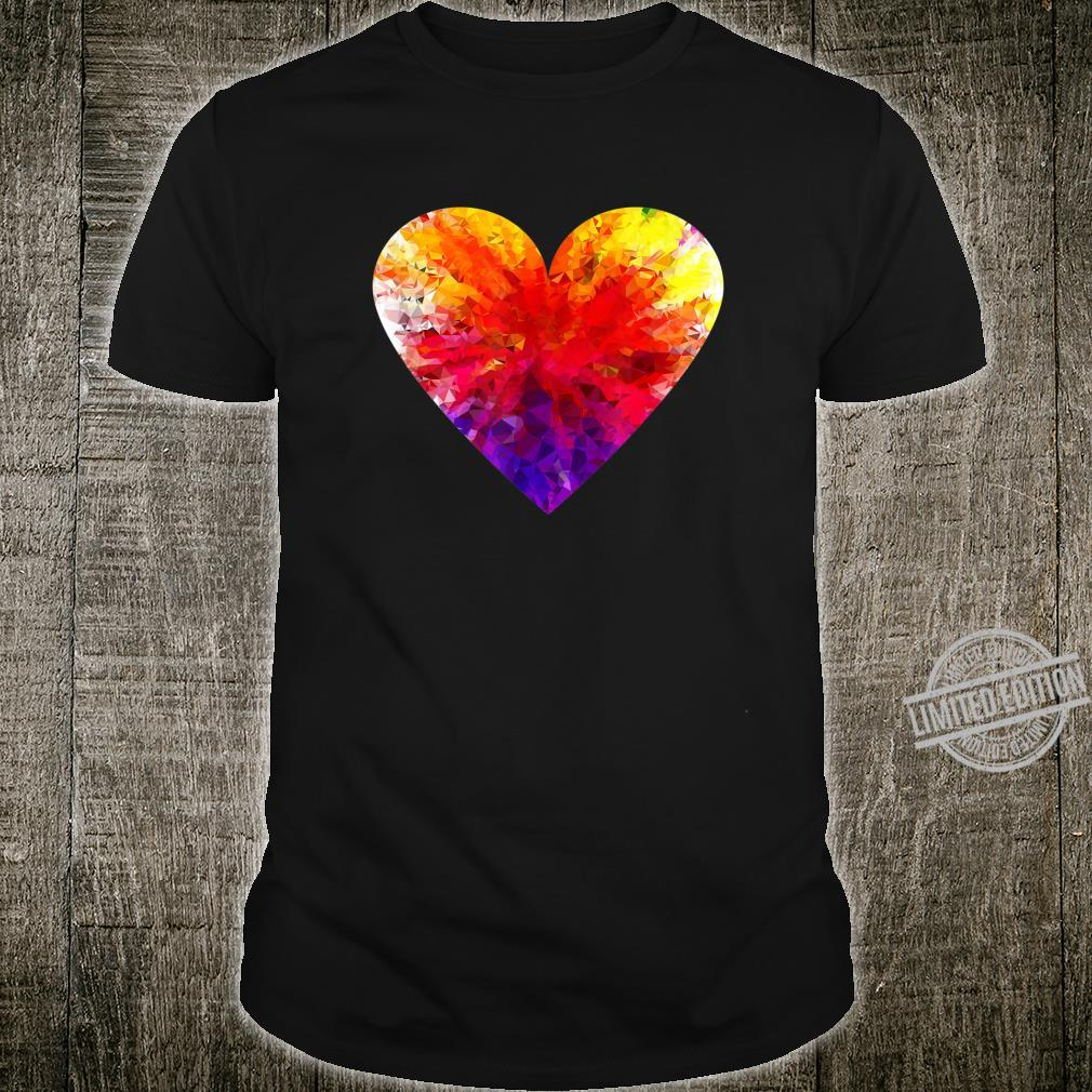 Big Colour Heart For Love And Friendship Shirt