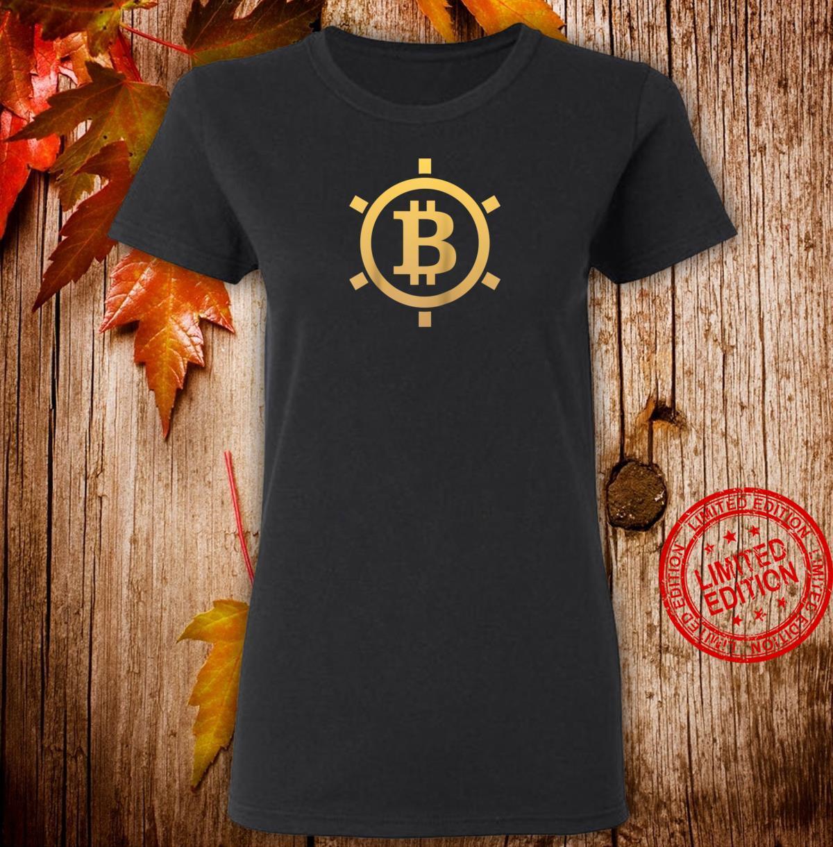 Bitcoin Vault Token Coin Cryptocurrency Logo Design Shirt ladies tee