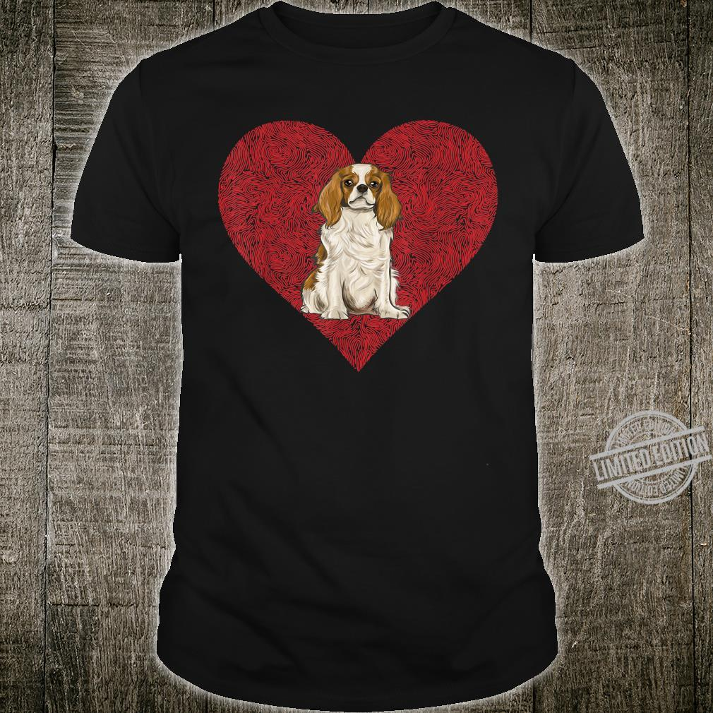 Cavalier King Charles Spaniel Valentines Day Dog Love Heart Shirt