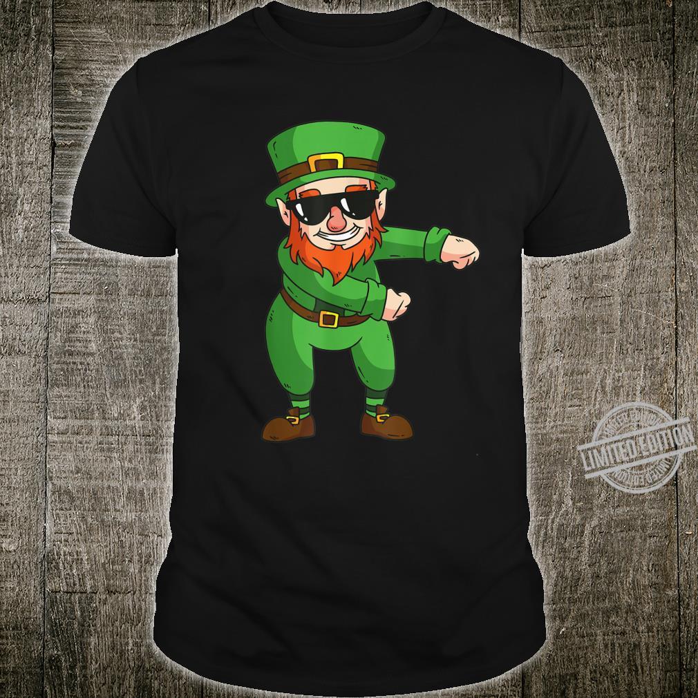 Dabbing irish Leprechaun Lucky StPatricks Dab Shirt