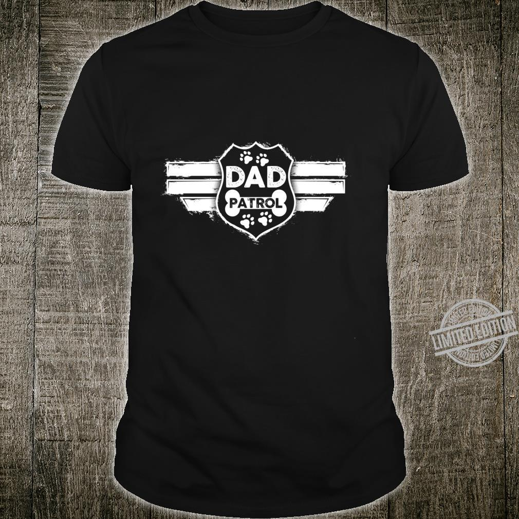 Funny Dog Dad Dad Patrol Dog Owner Langarmshirt Shirt
