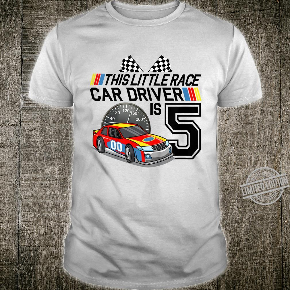 Kids 5 Year Old Race Car Birthday 5th Stock Car Racing Party Shirt