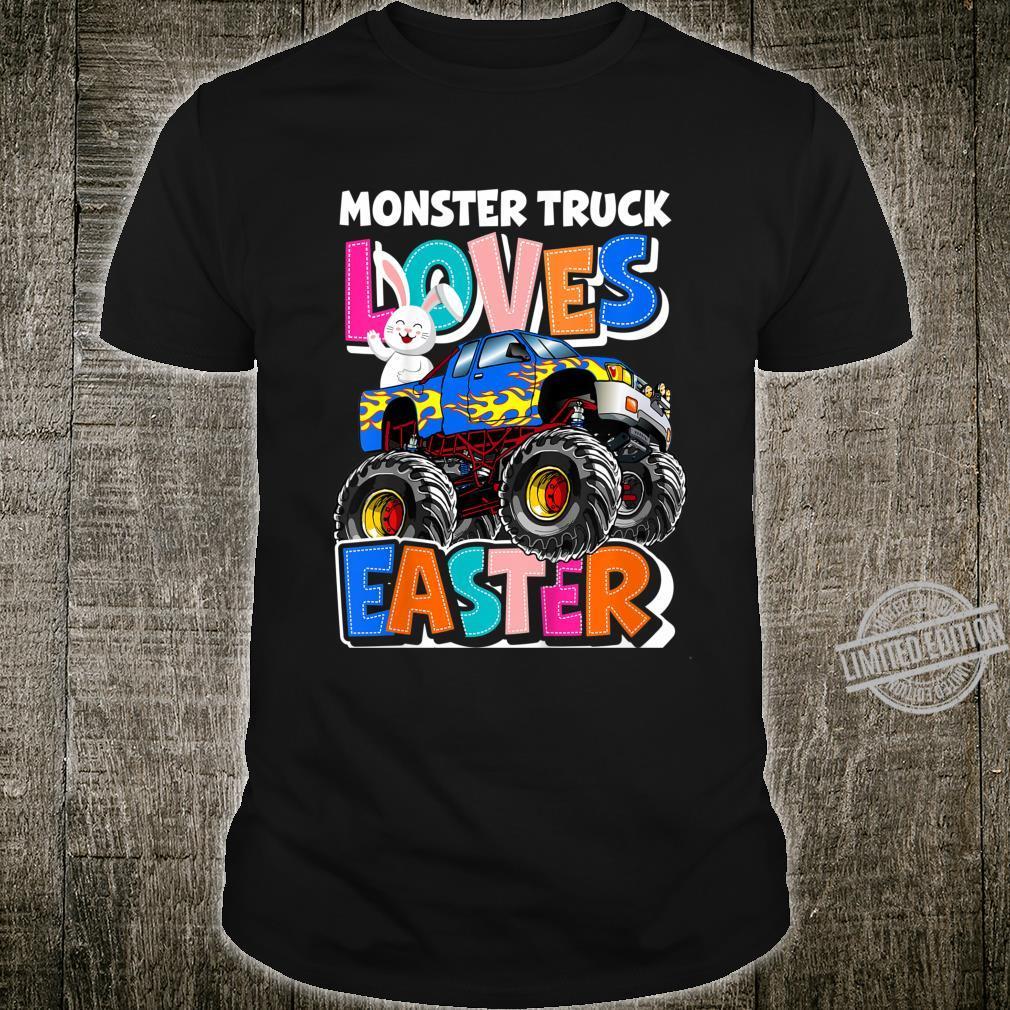 Kids Monster Truck Loves Easter Crushing Easter Easter Egg Shirt