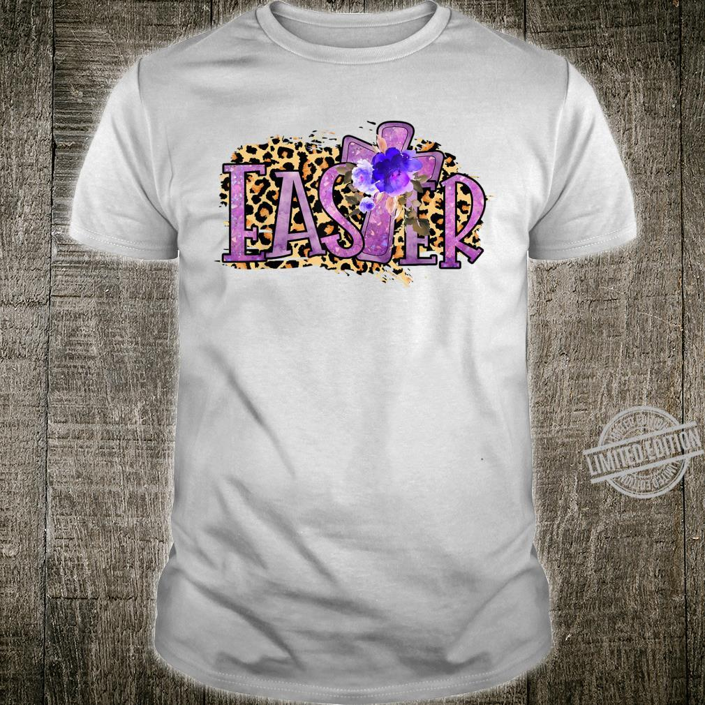 Leopard Christian Cross Easter Day Christian Shirt