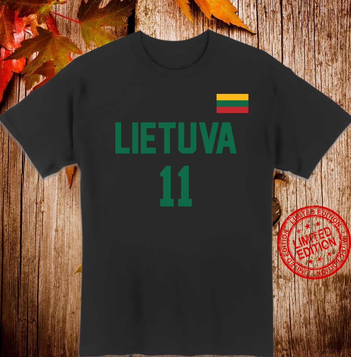 Lietuva or Lithuania Design in Basketball Style Shirt