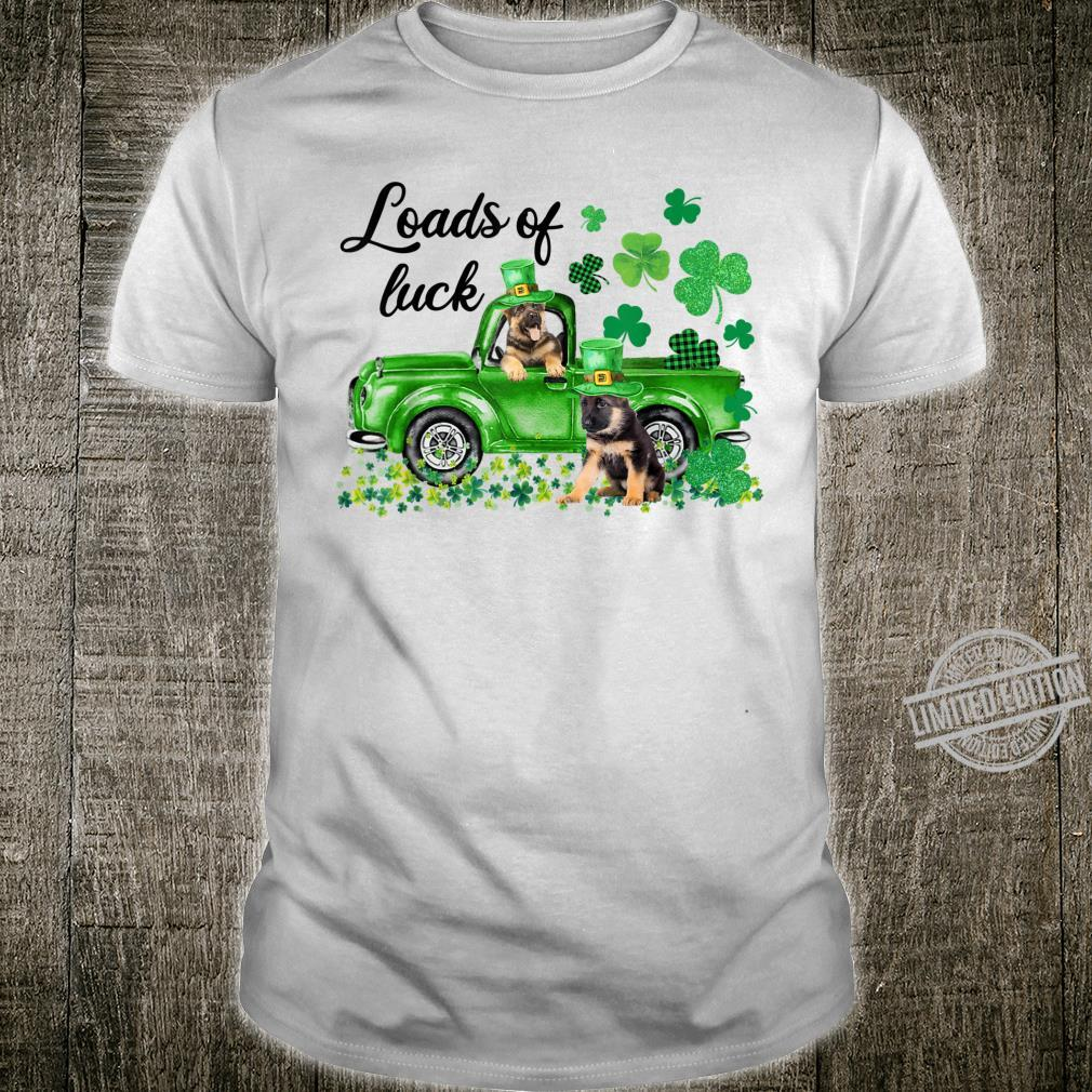 Loads Of Luck Green Truck German Shepherd Patricks Day Shirt