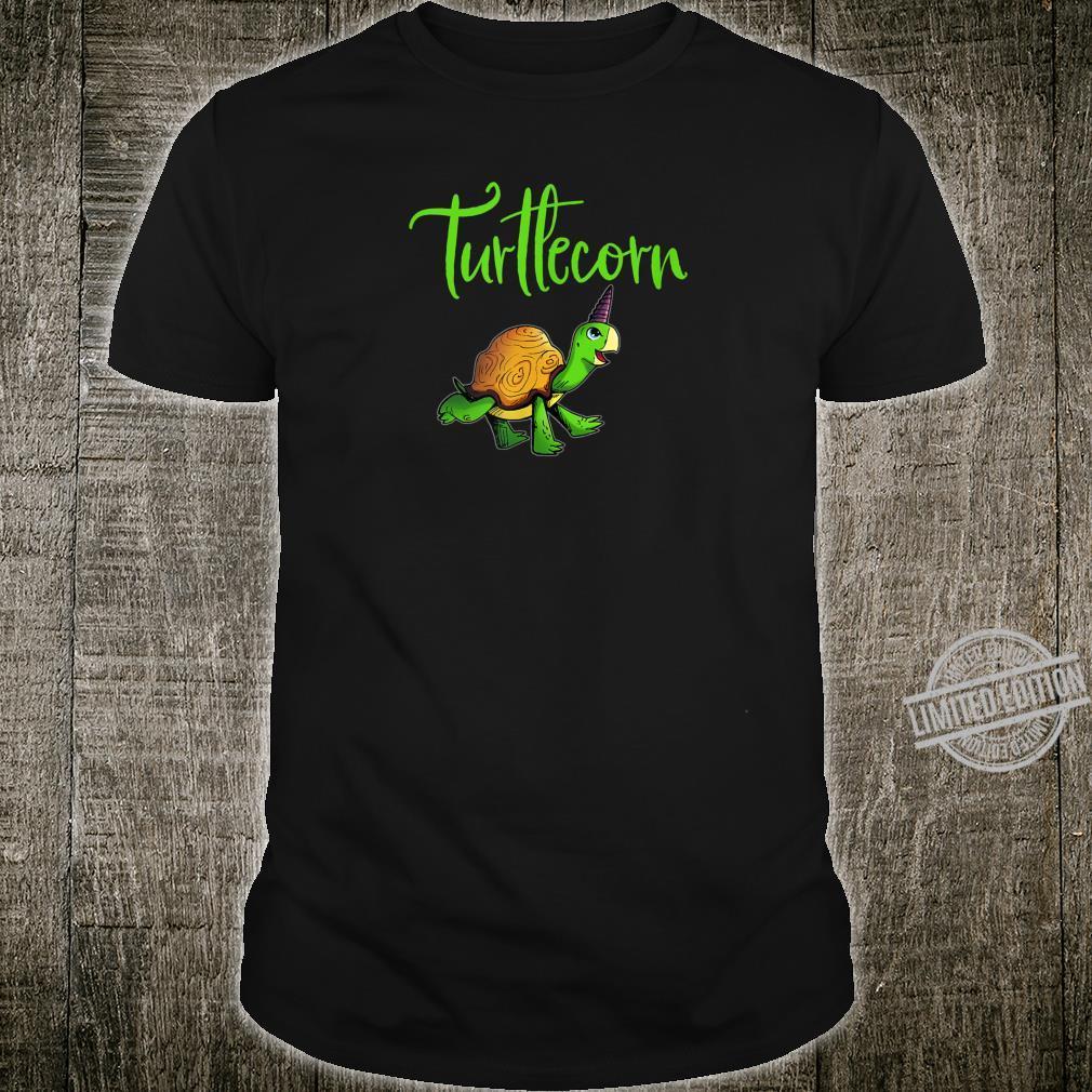 Lustiges Englisches TURTLECORN Schildkröte Einhorn Running Shirt