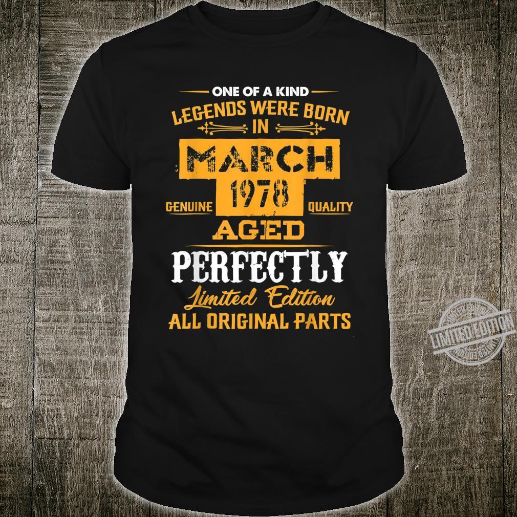 March 1978 42nd Year Old Shirt 1978 42nd Birthday Shirt