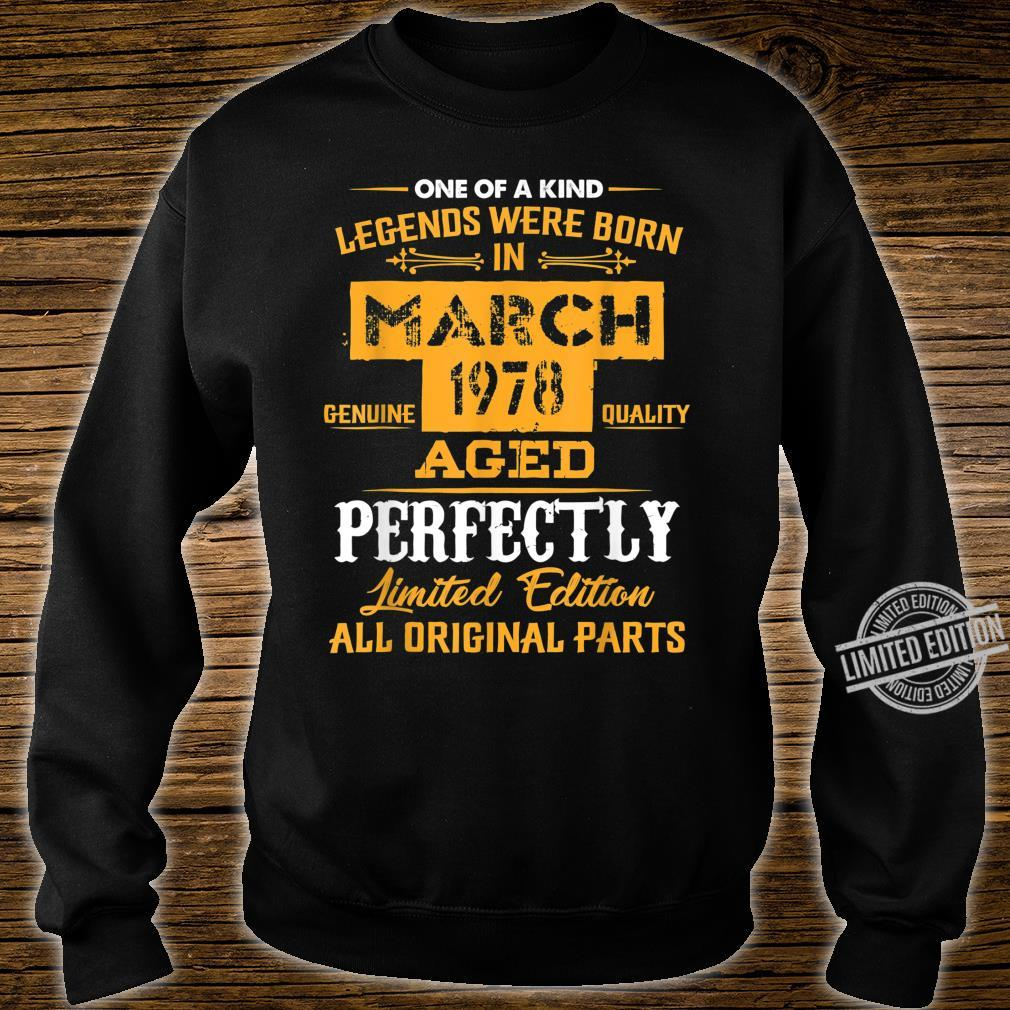 March 1978 42nd Year Old Shirt 1978 42nd Birthday Shirt sweater