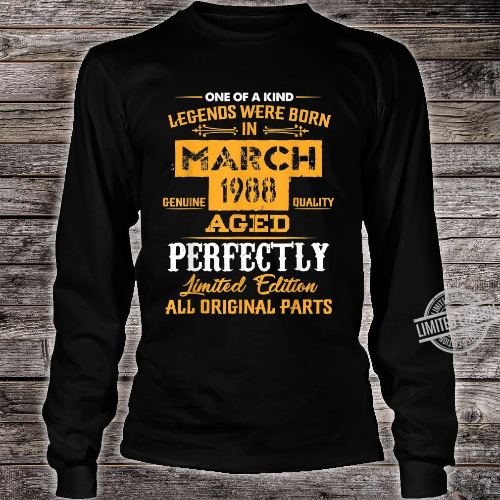 March 1988 32nd Year Old Shirt 1988 32nd Birthday Shirt long sleeved
