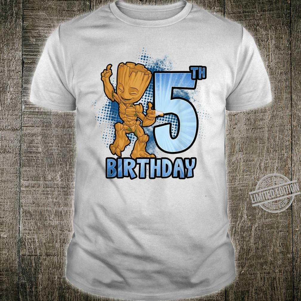 Marvel Guardians Of The Galaxy Baby Groot 5th Birthday Shirt