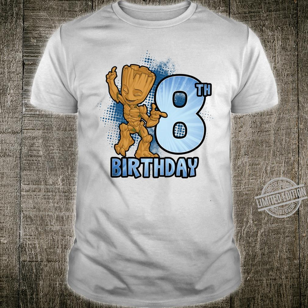 Marvel Guardians Of The Galaxy Baby Groot 8th Birthday Shirt