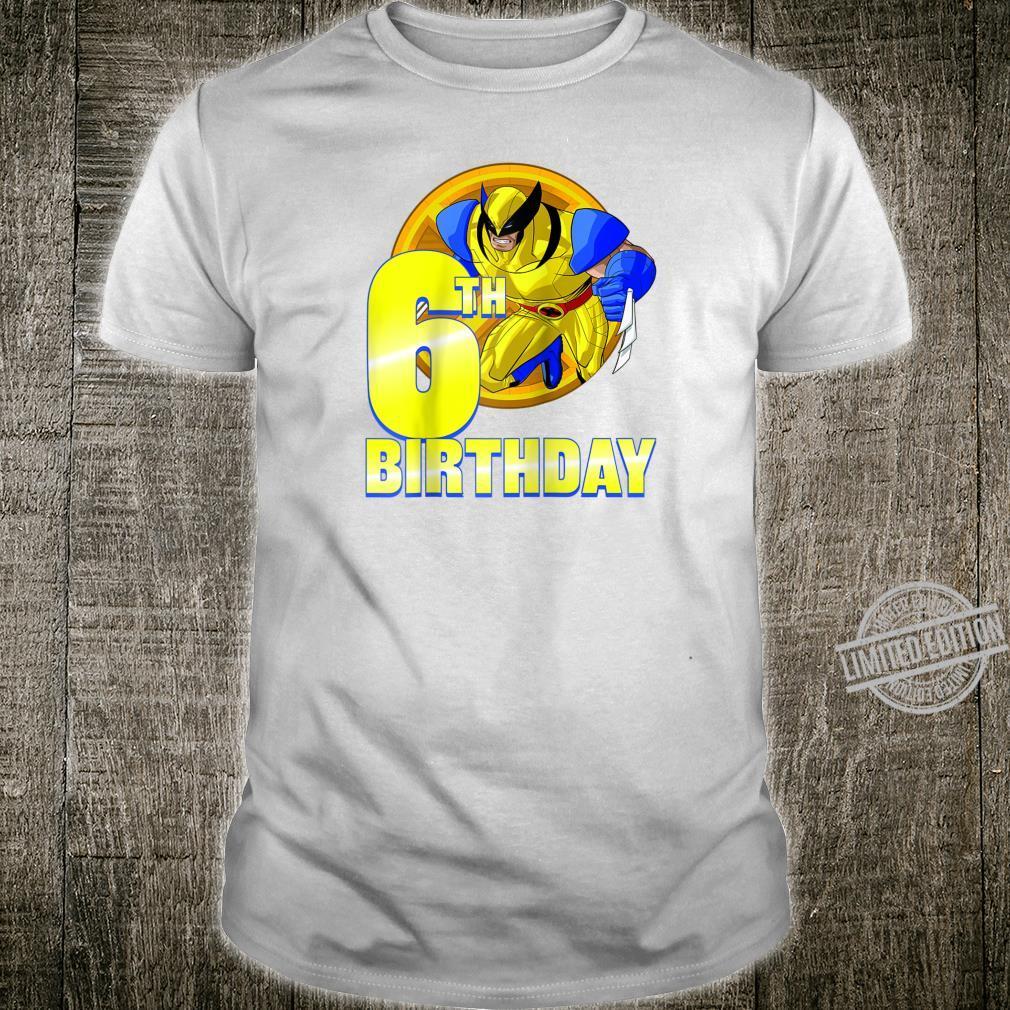 Marvel XMen Wolverine 6th Birthday Badge Shirt