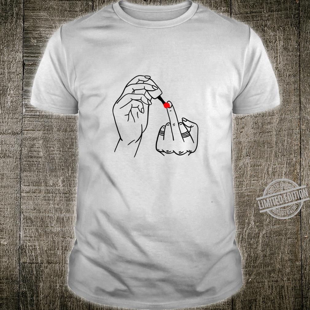 Middle Finger Cursing Swearing Finger Feminist Shirt