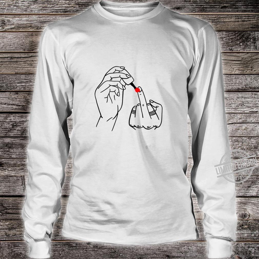 Middle Finger Cursing Swearing Finger Feminist Shirt long sleeved