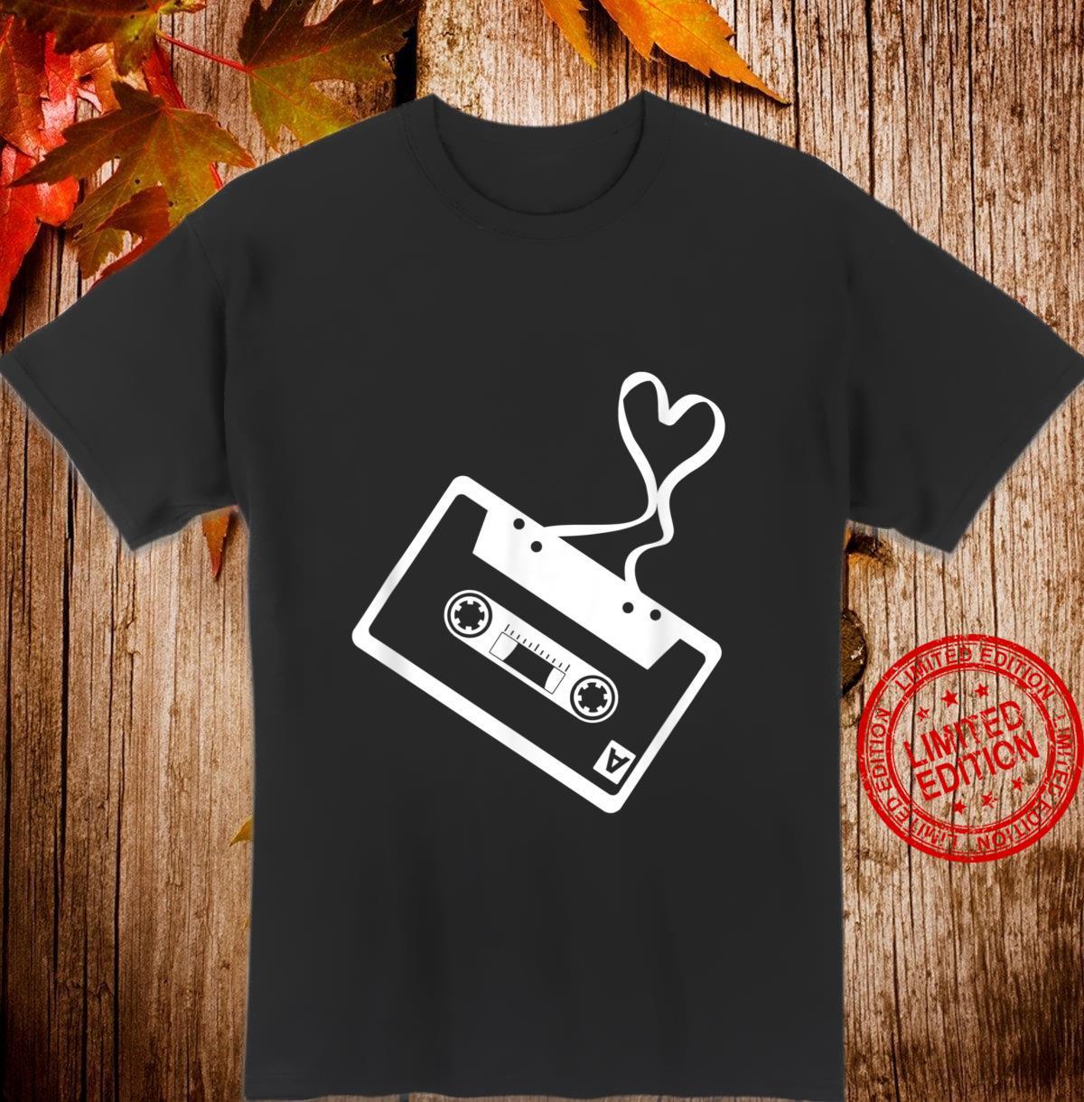 Music Cassette & Heart Nostalgia Fans Singer Songwriter Shirt