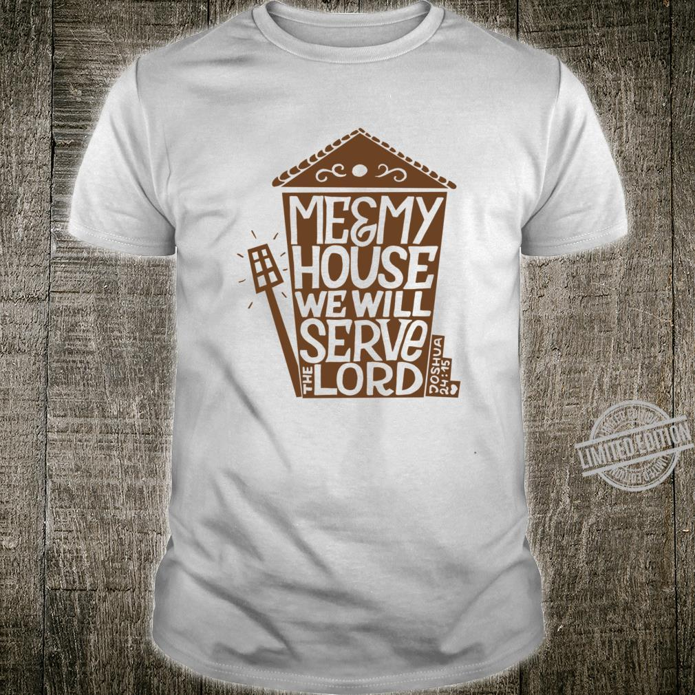 My House Serves The Lord Christian Religious Blessings Racerback Shirt