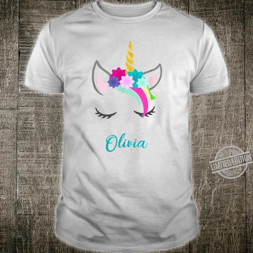 Olivia Name Personalised Unicorn Shirt
