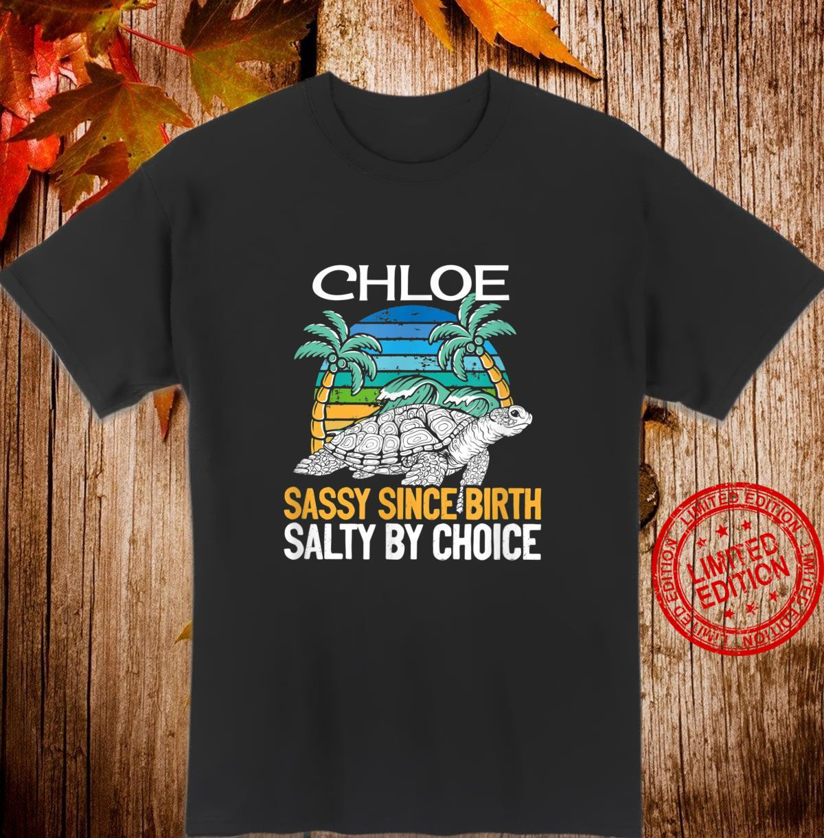 Personalized Chloe Beach Sassy & Salty Quote Shirt