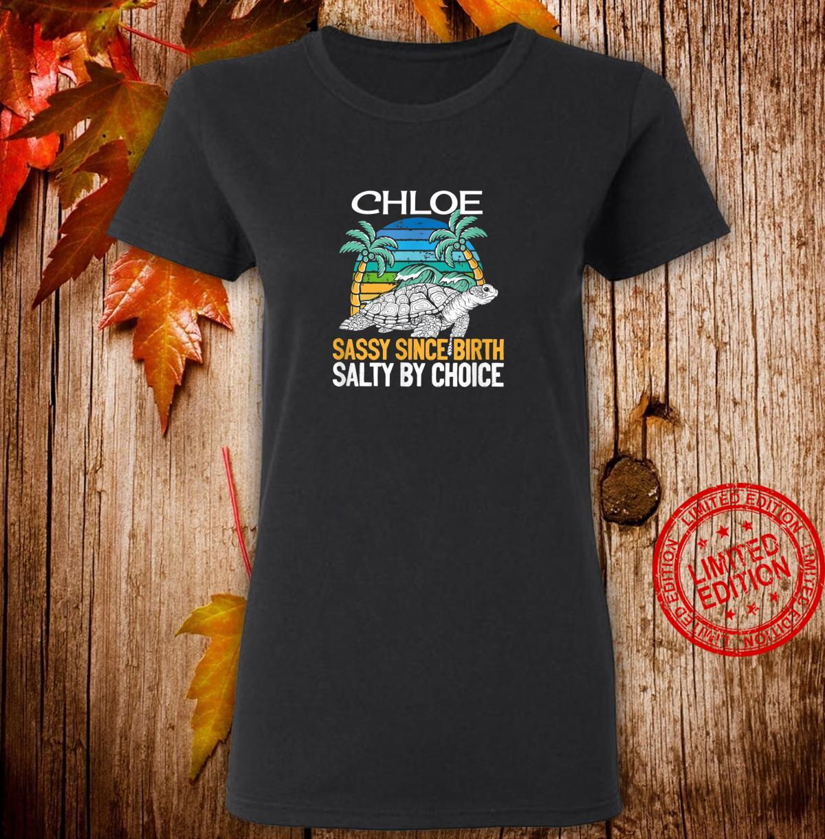 Personalized Chloe Beach Sassy & Salty Quote Shirt ladies tee