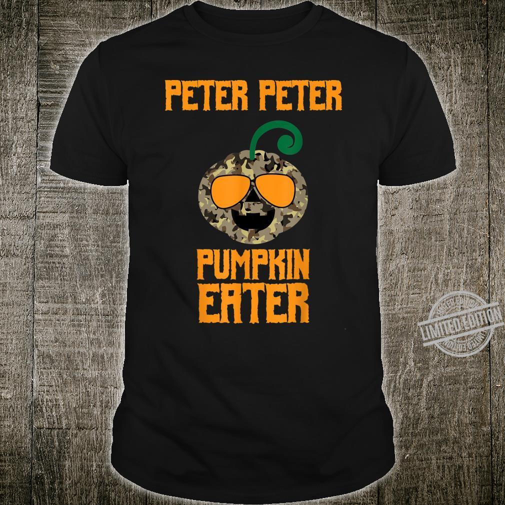 Peter Peter Pumpkin Eater Camo Costume Halloween Shirt