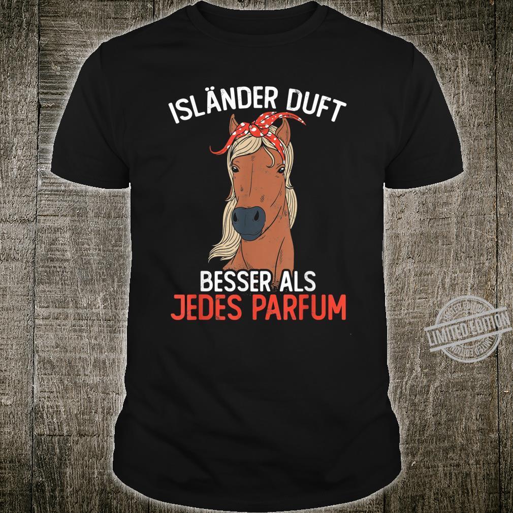 Pferd Reiten Spruch Islandpferd Reitsport Shirt