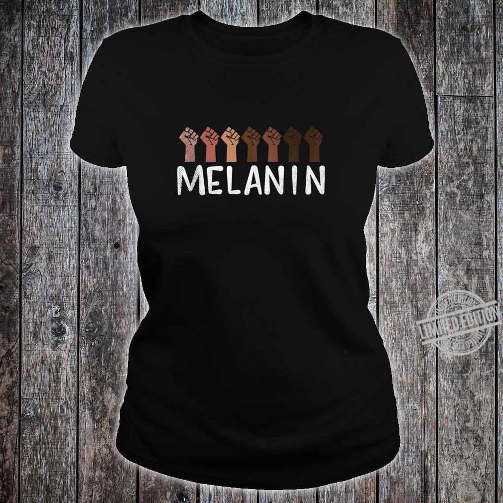 Raised Fist Melanin Black History African Pride BLM Shirt ladies tee