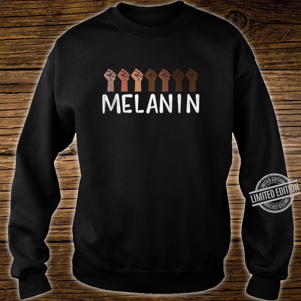 Raised Fist Melanin Black History African Pride BLM Shirt sweater