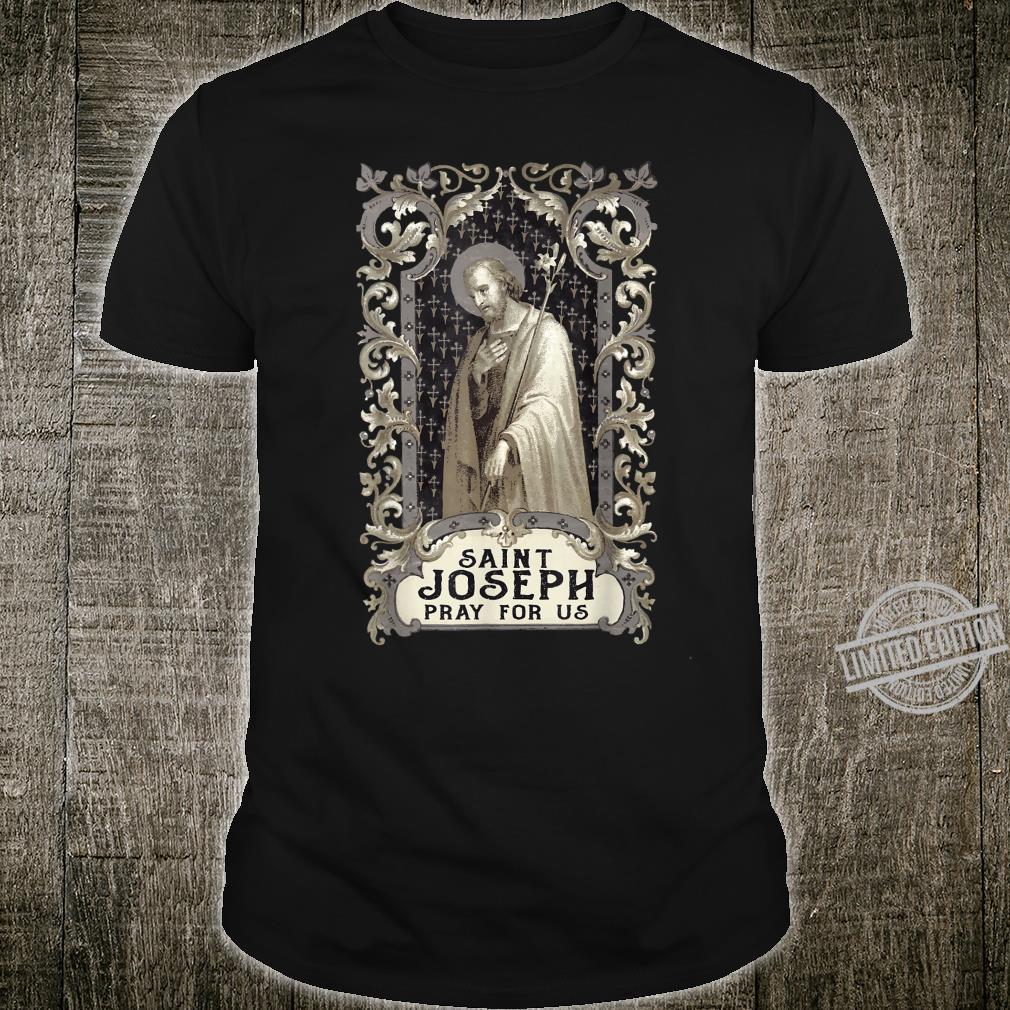 St Joseph Consecration Art Vintage Catholic Saint Shirt