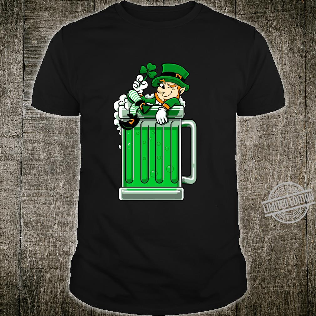 St Patrick's Day Beer Leprechaun Drinking Beer Saint Paddys Shirt