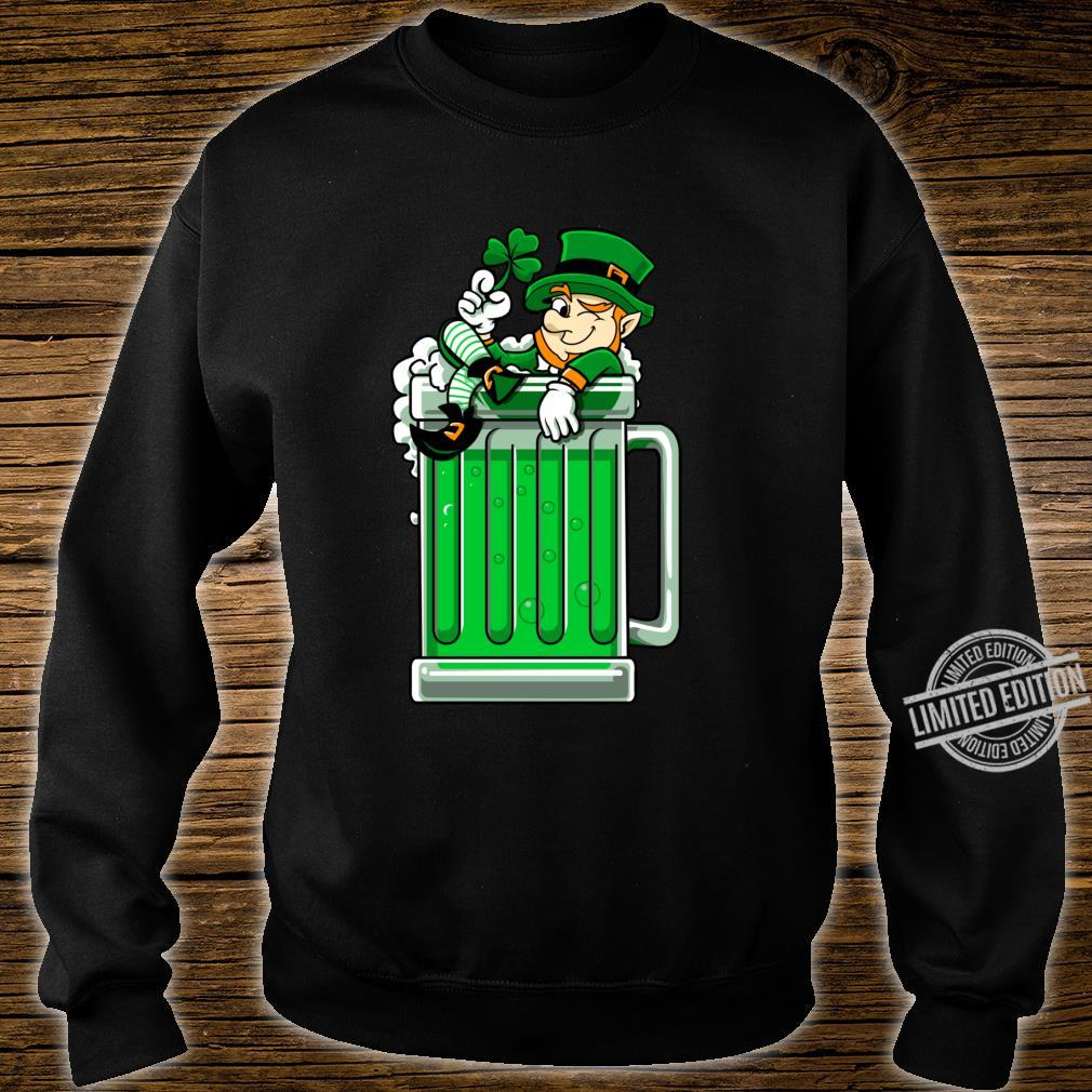 St Patrick's Day Beer Leprechaun Drinking Beer Saint Paddys Shirt sweater