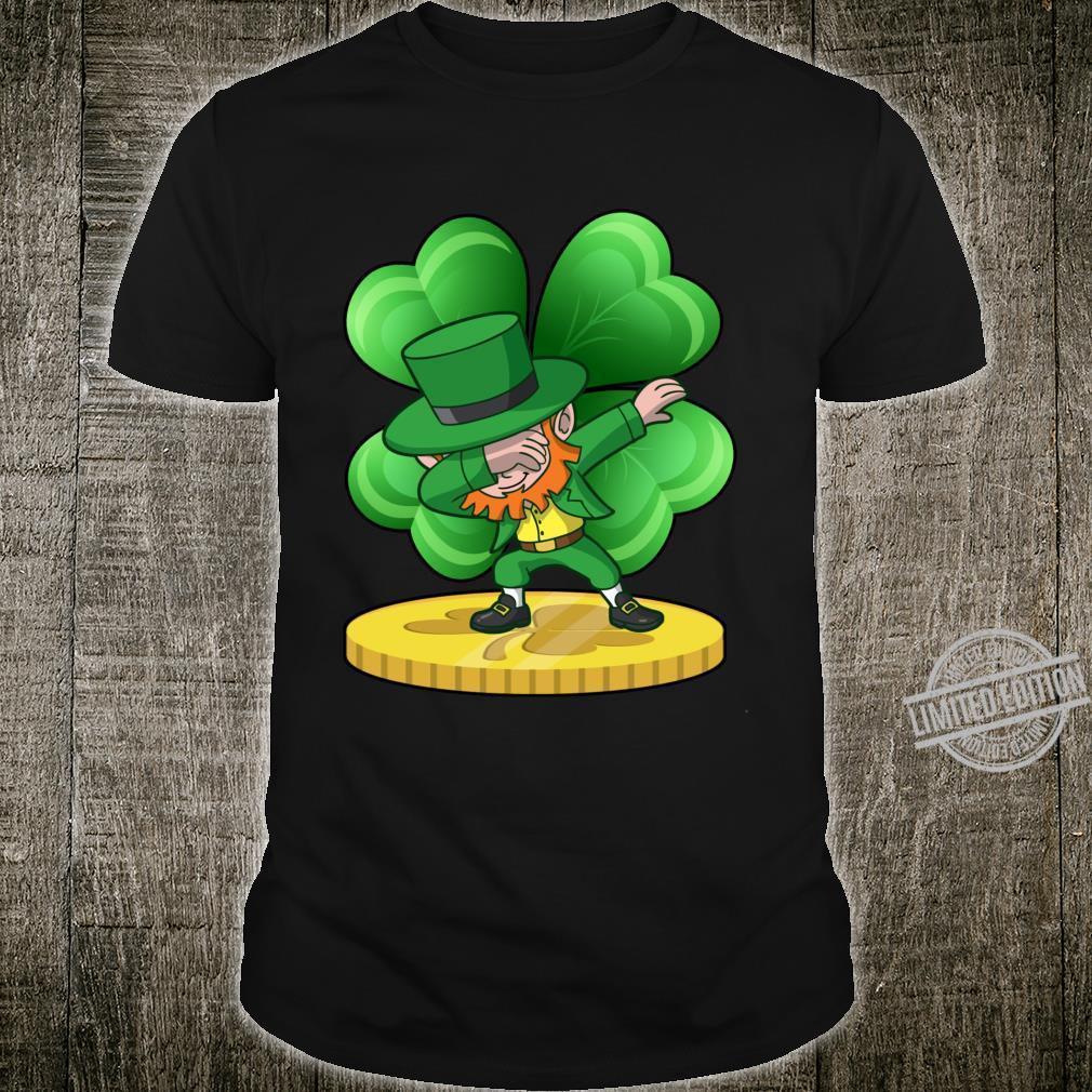 St Patricks Day Dabbing Leprechaun Coin Shamrock Shirt