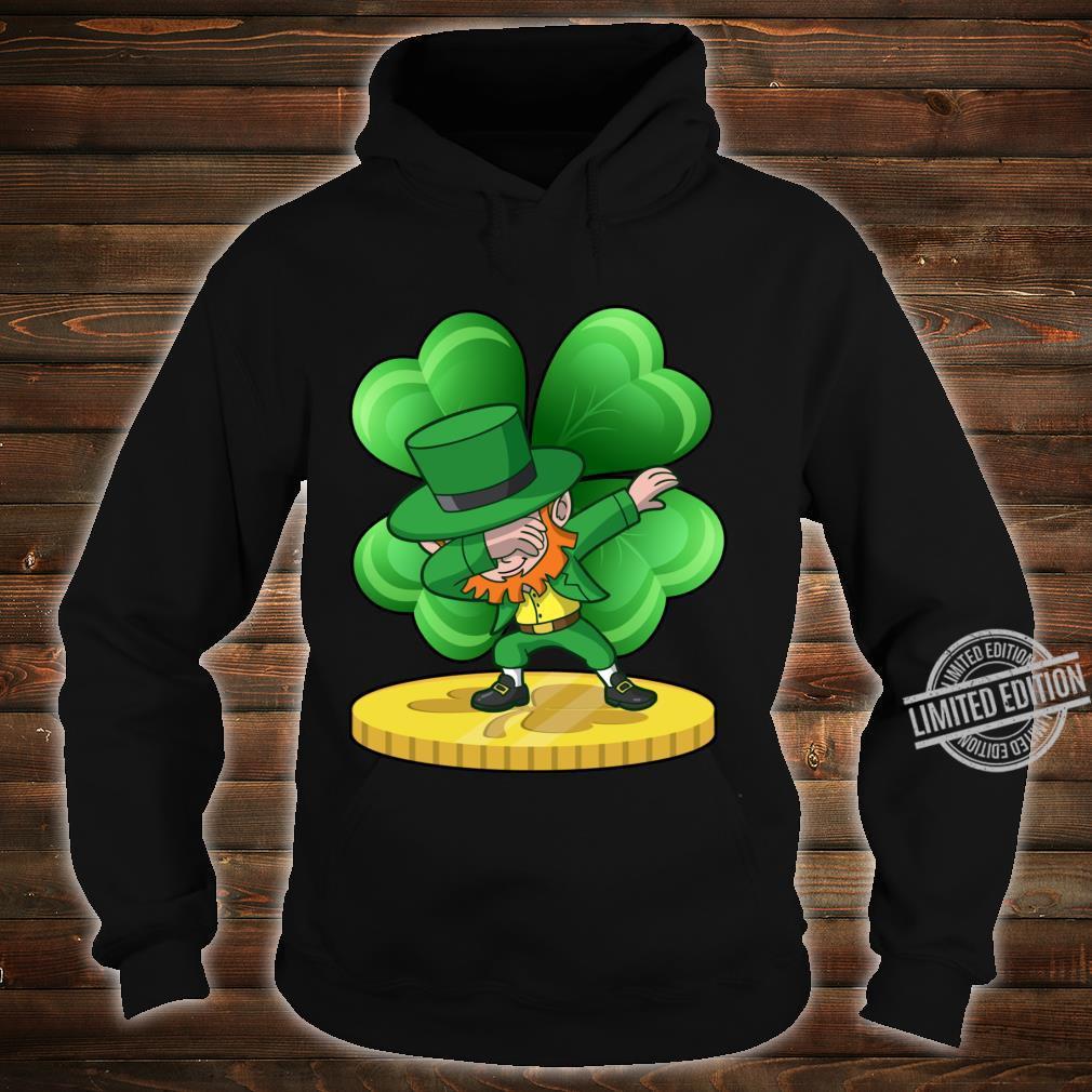 St Patricks Day Dabbing Leprechaun Coin Shamrock Shirt hoodie