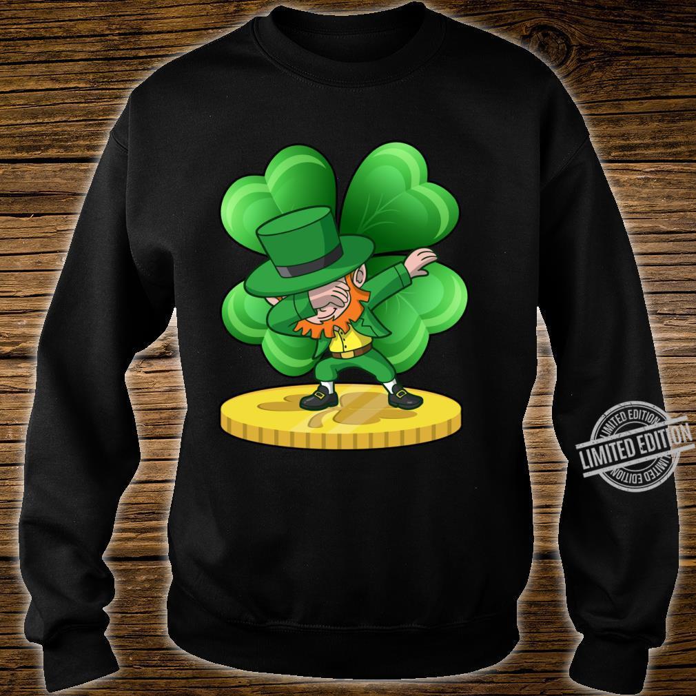 St Patricks Day Dabbing Leprechaun Coin Shamrock Shirt sweater