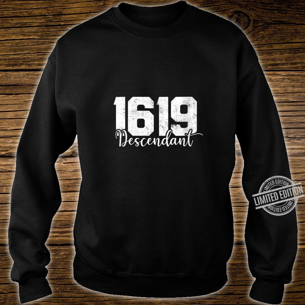 Womens 1619 Descendant Black History Month African American Shirt sweater