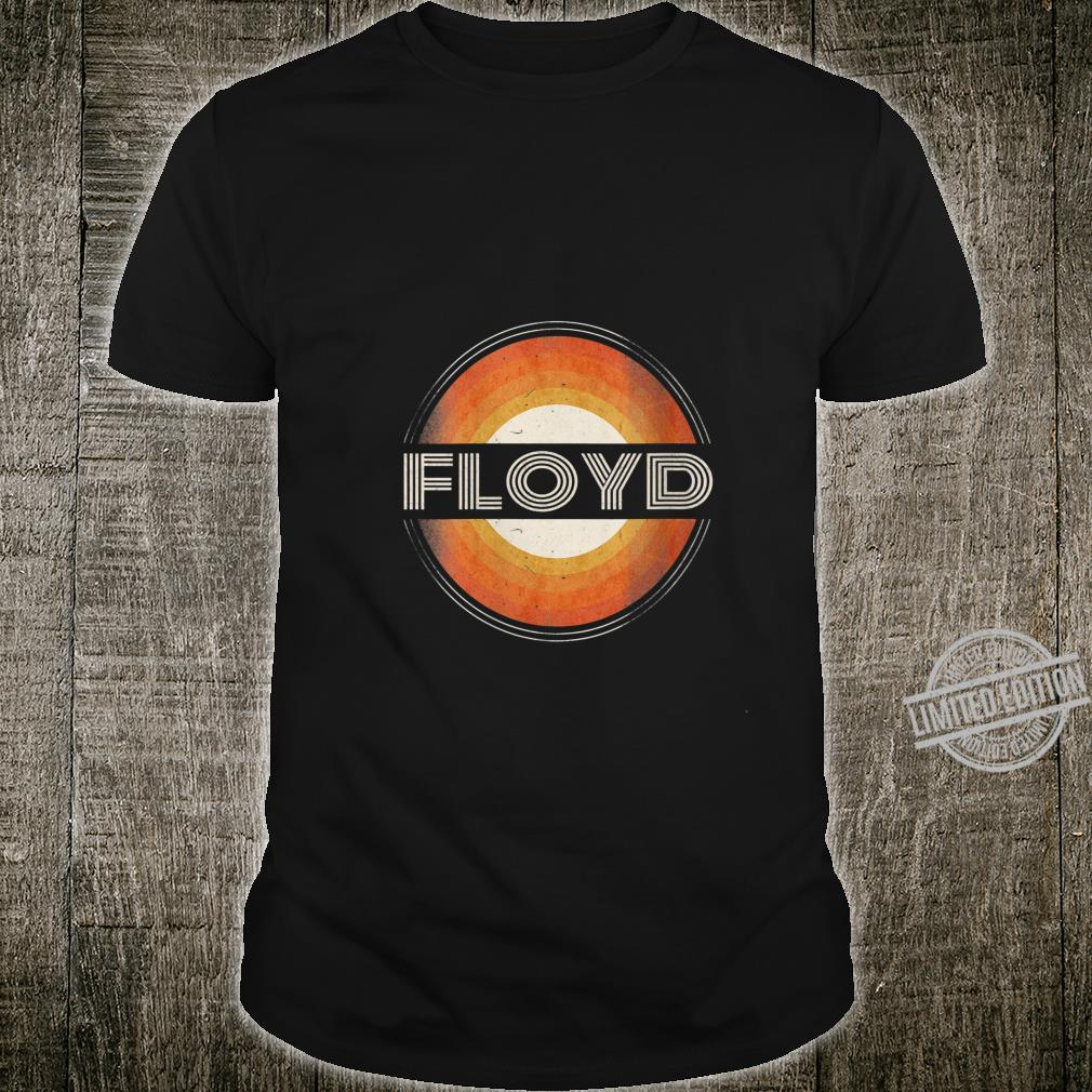 Womens 365 First Name Floyd Retro Personalized Vintage Shirt
