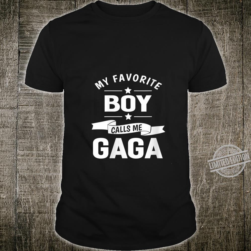 Womens 365 My Favorite Boy Calls me Gaga Grandma Shirt