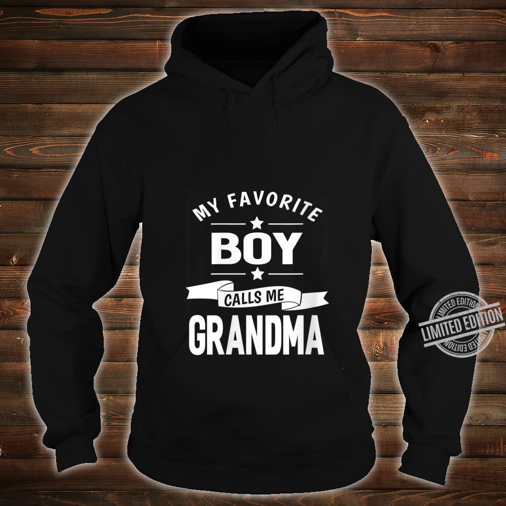 Womens 365 My Favorite Boy Calls me Grandma Grandma Shirt hoodie
