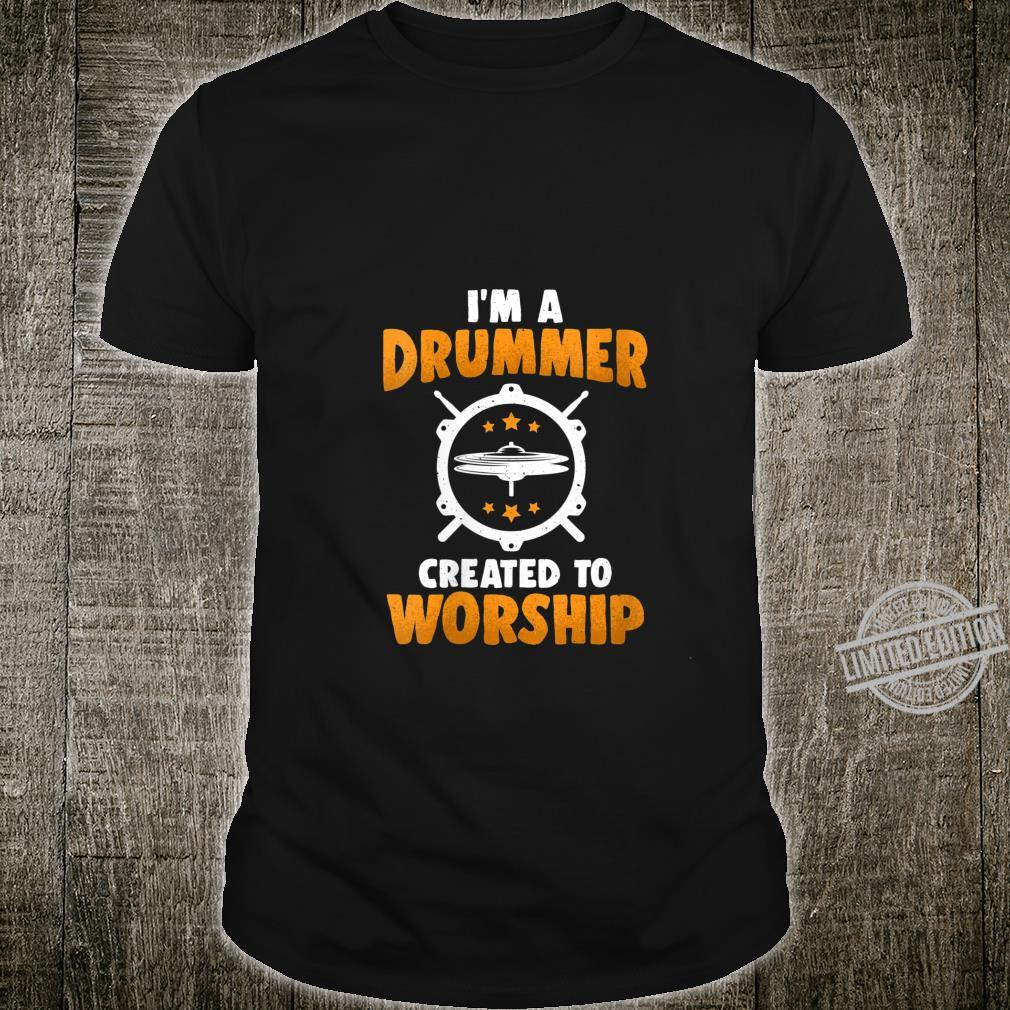 Womens Vintage I'm A Drummer Music Band Drums Beat Shirt